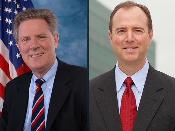 Representatives Frank Pallone (left) and Adam Schiff