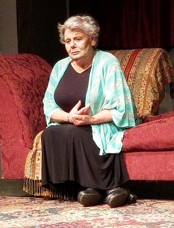 """Janet Voskanian as Mrs. Hripsime in """"Ankhrov Hrazhesht"""" (A Tranquil Farewell)"""