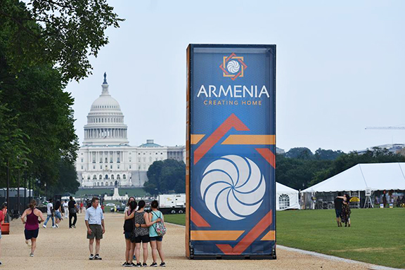 The Mall in Washington is preparing for the Smithsonian Folklife Festival featuring Armenia
