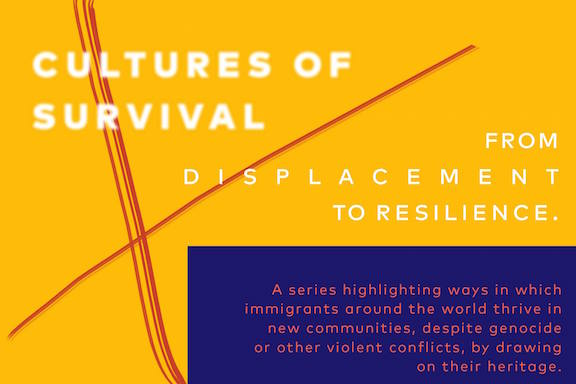 The Smithsonian Folklife Festival's Cultures of Survival flyer.