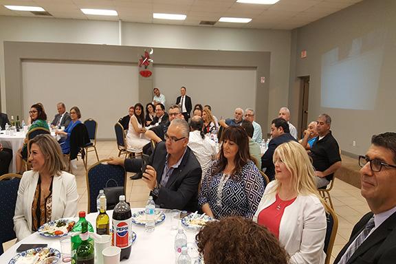 Guests attending the Vanadzor Sister City Delegation celebration event.