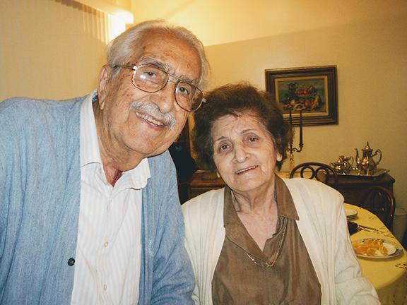"The author's parents, Donald & Anush Sarkissian, whom she calls the ""odd couple"""