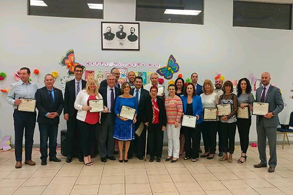 ANCA – Pasadena board members with the City of Pasadena's Vanadzor Sister City Delegation.