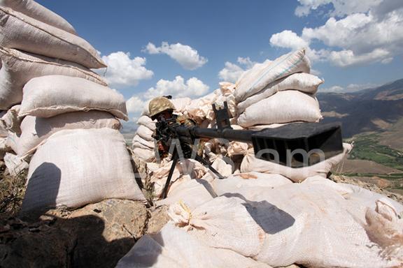 Armenian border fortifications at the Nakhichevan border