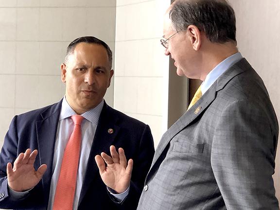 ANCA Chairman Raffi Hamparian discusses new opportunities for U.S.-Armenia economic development with Rep. Brad Sherman (D-CA)