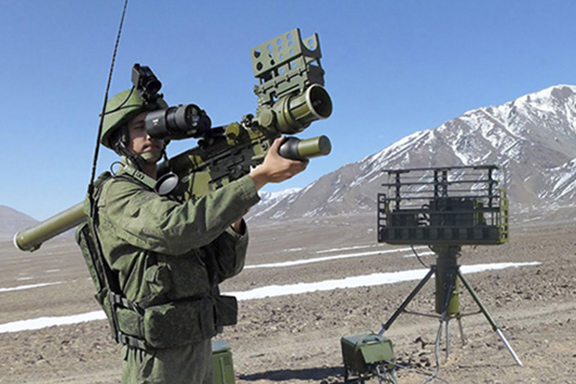 A rocket launcher is part of the Russian military delivery to Armenia
