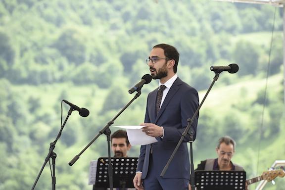Armenian Deputy Prime Minister Tigran Avinyan delivering remarks at COAF SMART Center  opening.