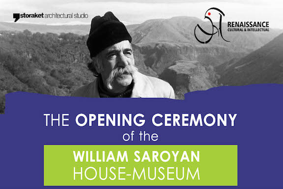 The grand opening ceremony of the William Saroyan house will take place August 31 at Fresno State.
