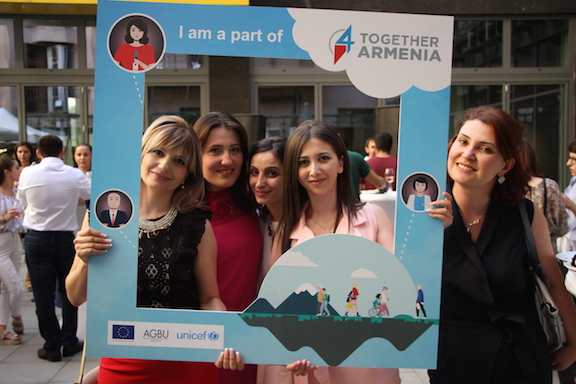 Together4Armenia participants in Yerevan.