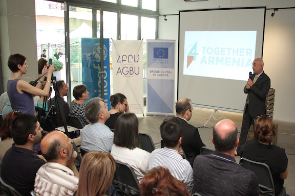 The Together4Armenia event in Yerevan, which revealed the upgrades to the platform.