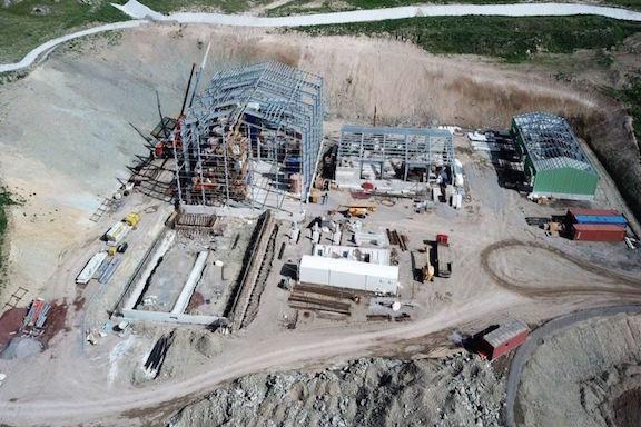 Gold mining facilities constructed by Lydian International company at Amulsar deposit on May 18, 2018. (Source: Azatutyun.am)