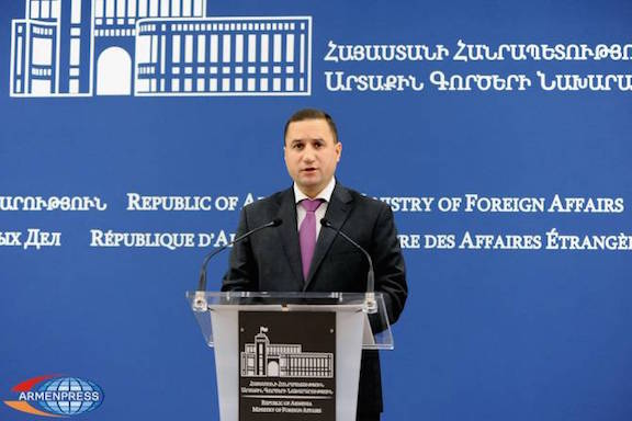 Spokesperson for the Ministry of Foreign Affairs of the Republic of Armenia Tigran Balayan.