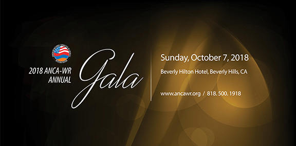 The ANCA-WR's annual Gala is set for October 7