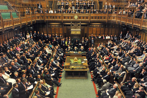 The United Kingdom's House of Commons, the lower house of Parliament.
