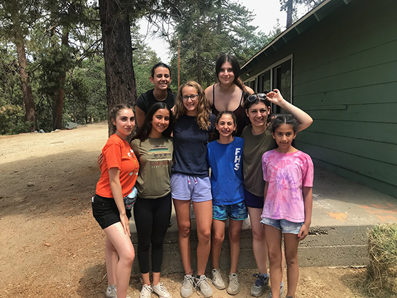 The author, Anaheed Sarkian, with her campers at AYF Camp