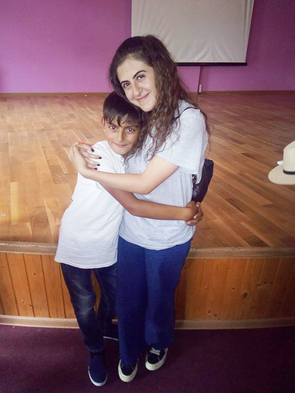 The author, Hasmik Burushyan with a young Javakhk resident