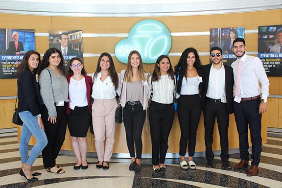 ANCA-WR 2018 summer interns and former interns at ABC7 Studios