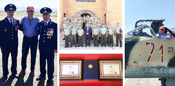 Frank Zerunyan with Armenia's military, law enforcement and civic leaders