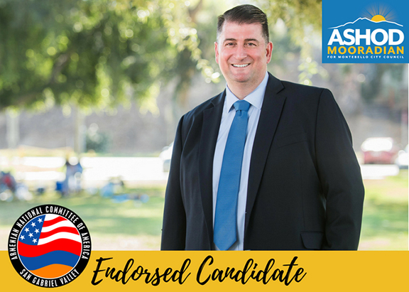 The San Gabriel Valley chapter of the ANCA endorsed Ashot Mooradian for Montebello City Council