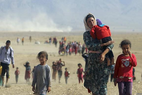 Yezidi refugees displaced by ISIS