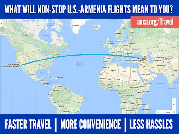 Non-stop flights between U.S. and Armenia