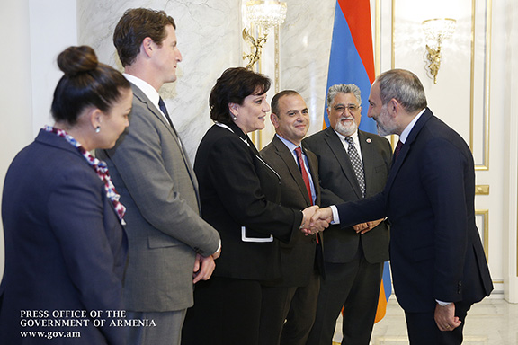 ANC-WR Chairwoman Nora Hovsepain meets with Prime Minister Nikol Pashinyan on Sept. 11 in Yerevan