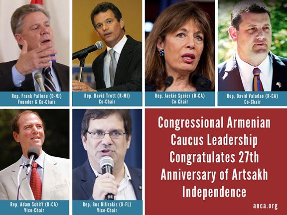 Congressional Armenian Caucus Leadership Congratulates Artsakh 27th