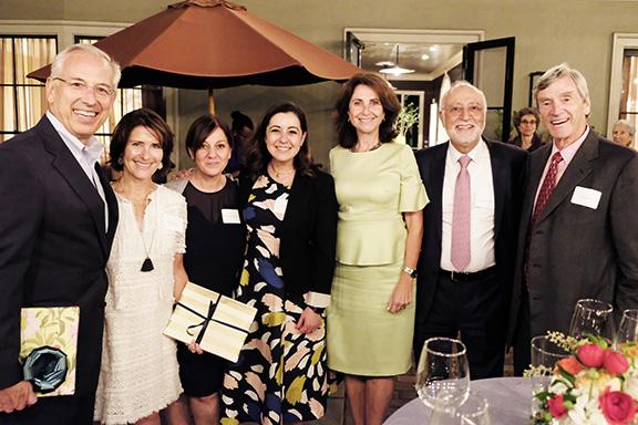 Bill Cumbelich, Sara Kachadoorian Cumbelich, Gaiane Khachatryan, Aline Barsoumian, Nelly Der Kiureghian, Dr. Armen Der Kiureghian and Dr. Larry Pitts