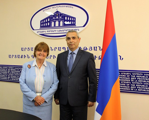 Baroness Cox with Artsakh Foreign Minister Masis Mayilyan