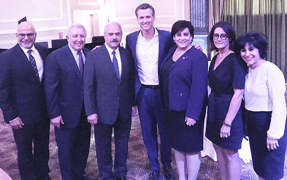 ANCA-WR Board, Advisory Board and ANCA National Board members with gubernatorial candidate Gavin Newsom