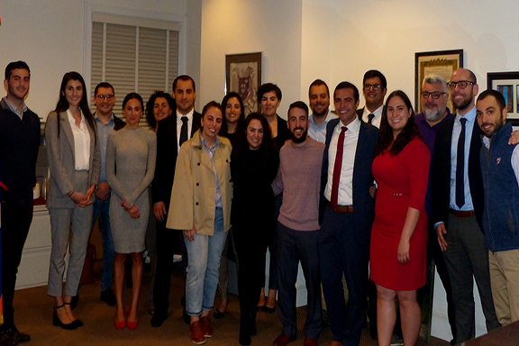 Hovig Apo Saghdejian Capital Gateway Fall 2018 Fellows with Program Director Tereza Yerimyan, CGP Advisory Committee members and alumni.