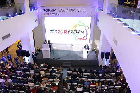 An Economic Forum kicked off ahead of the 17th Summit of La Francophonie in Yerevan