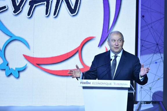 President Armen Sarkissian at the Economic Summit