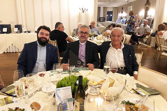 Prelate with Hank Khachaturian & Very Rev. Fr. Barouyr Shernezian