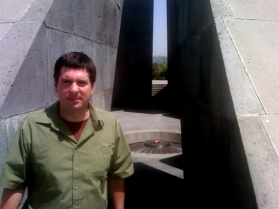 House Intelligence Committee Chairman Devin Nunes pay tribute to the victims of the Armenian Genocide during his 2012 visit to the Dzidzernagapert memorial in Armenia.