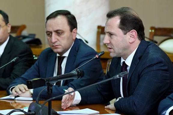 Armenia's Acting Defense Minister Davit Tonoyan