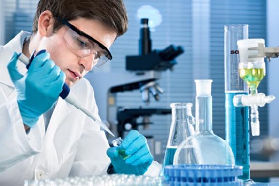 A laboratory worker in Armenia