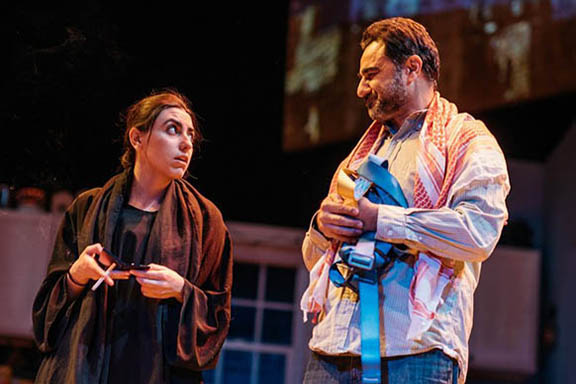 """Vaneh Assadourian delivered two winning performances: in """"The Happiest Song Plays Last"""" (pictured) and """"Hostage."""" (Photo by Gio Solis)"""