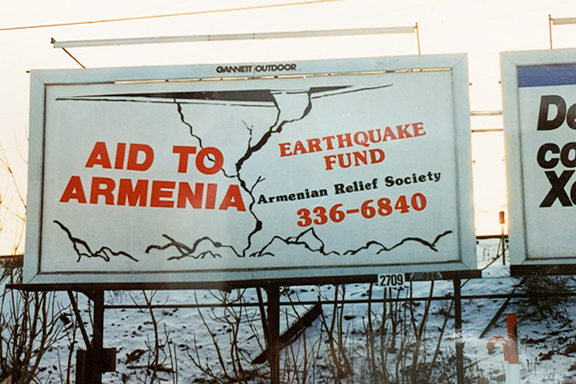Armenian Relief Society billboards for the were seen across the United States