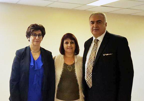 From left: Dr. Frieda Jordan, community leader Noyemi Nalbandian, and Dr. Sevak Avagyan