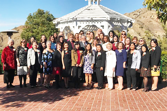 Senator Anthony Portantino flanked by the Women in Business  Award recipients