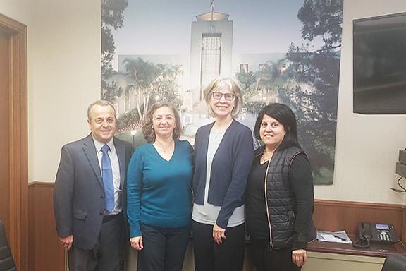 ANCA Burbank members with Mayor Emily Gabel-Luddy