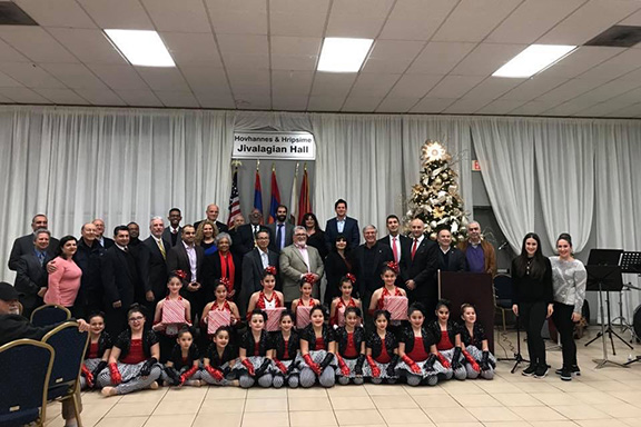 Local  and state elected officials, community leaders, members, and  supporters during the ANCA-Pasadena annual Holiday gathering