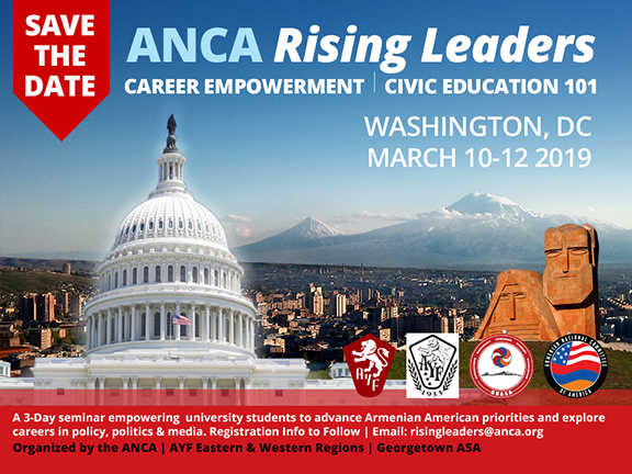 Save March 10-12th for the ANCA Rising Leaders Seminar in Washington