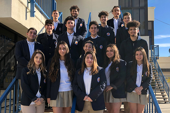 The Ferrahian students who will be traveling to the Hague to take part a Model U.N. summit