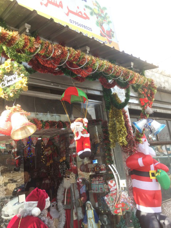 The store selling Christmas decorations in Amman