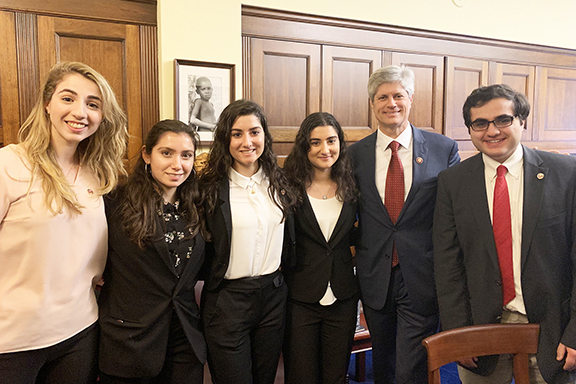 Rep. Jeff Fortenberry (R-NE), a leading advocate of rights of Christians and other minorities in the Middle East, with ANCA activists following the January 3 swearing-in ceremony of the 116th Congress.