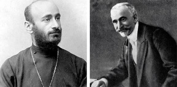 Gomidas (left) Hovhannes Tumanian