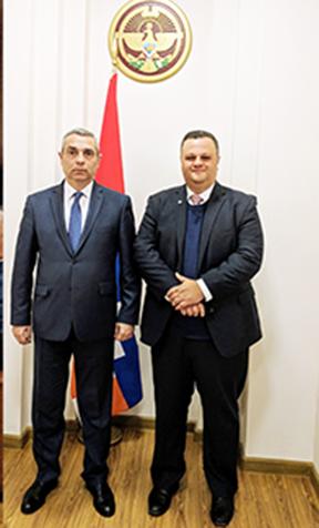 Artsakh Foreign Minister Masis Mayilyan (left) with ANC-Australia Executive Director Haig Kayserian