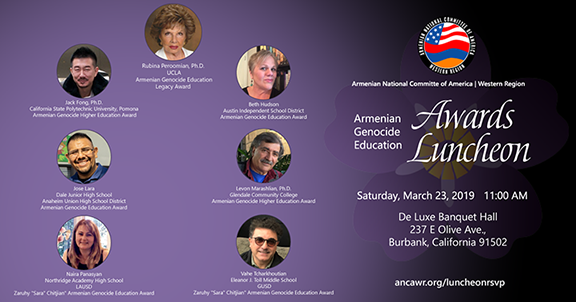 7 educators to be honored at ANCA-WR's Genocide Education Awards Luncheon